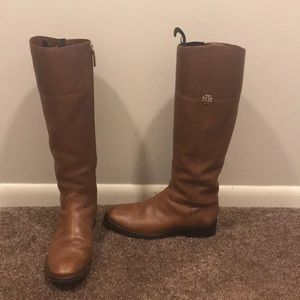 Tory Burch Jolie Riding Boots, Rustic Brown